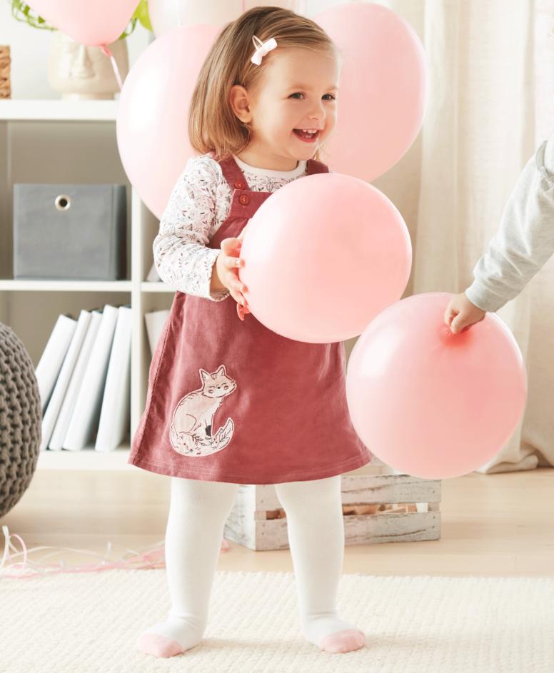 Komplet za bebe 100%, pamuk, bela i roze, veličine: 62-92 cm