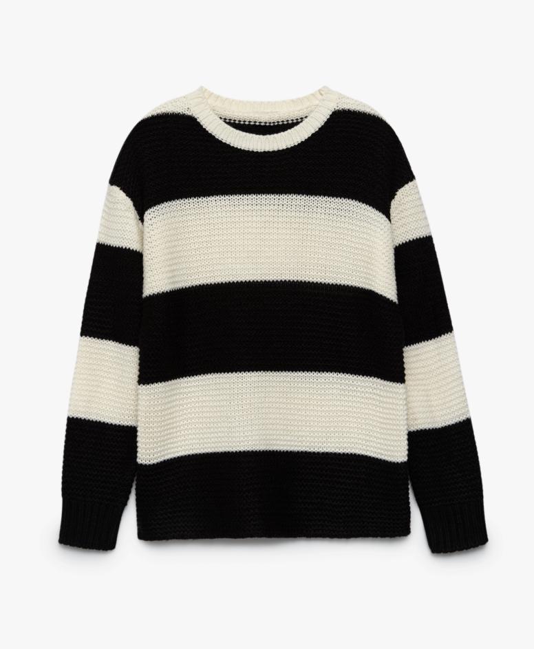 Džemper za žene, crno-beli, veličine: S-XXL