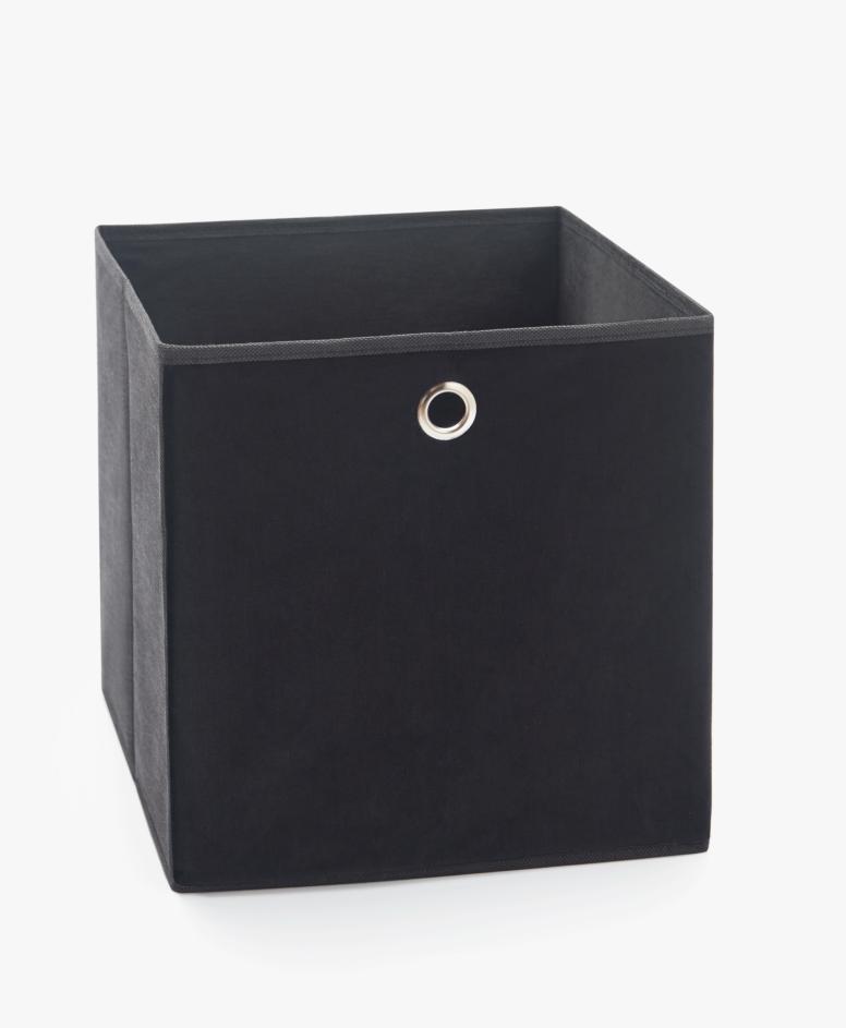 Pudełko składane, kolor czarny, wymiary: 30 x 30 x 30 cm