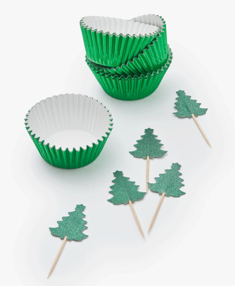 Zestaw dekoracji do muffinek, kolor zielony