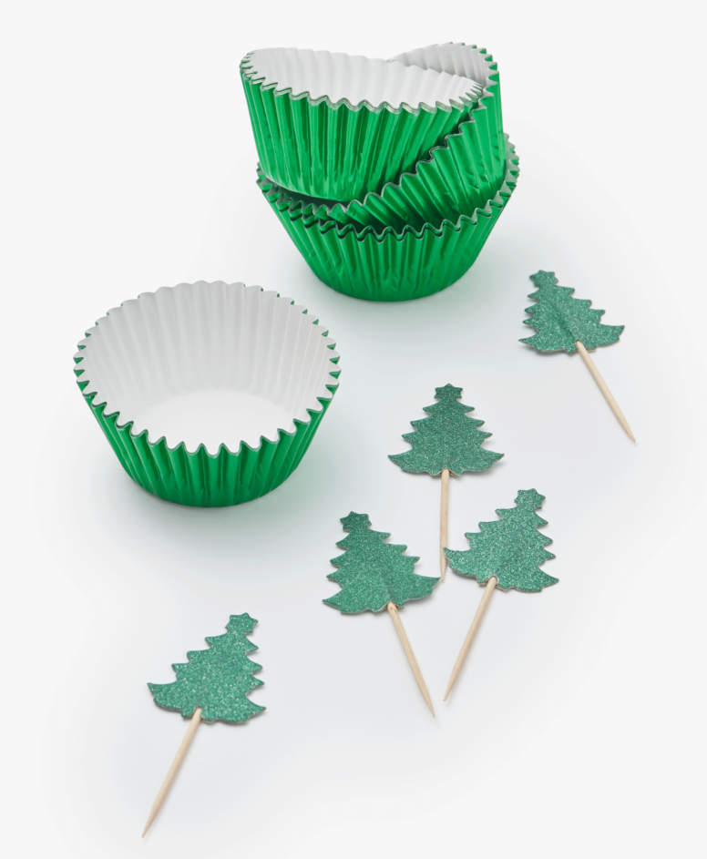 Dekorativni set za mafine, zeleni