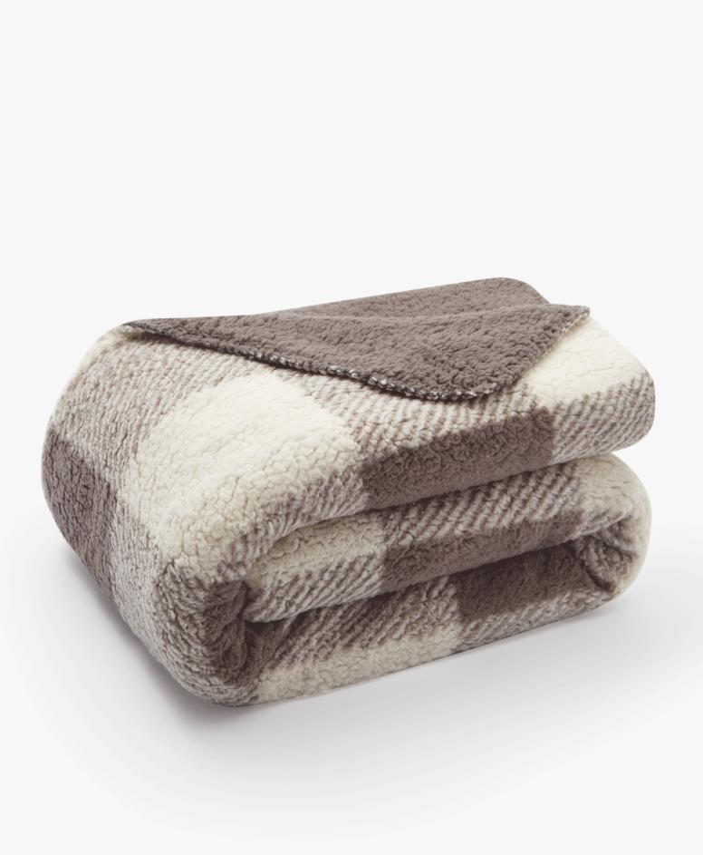 Dvostrani pokrivač, 1200 RSD, bež-braon, dimenzije: 150 x 200 cm