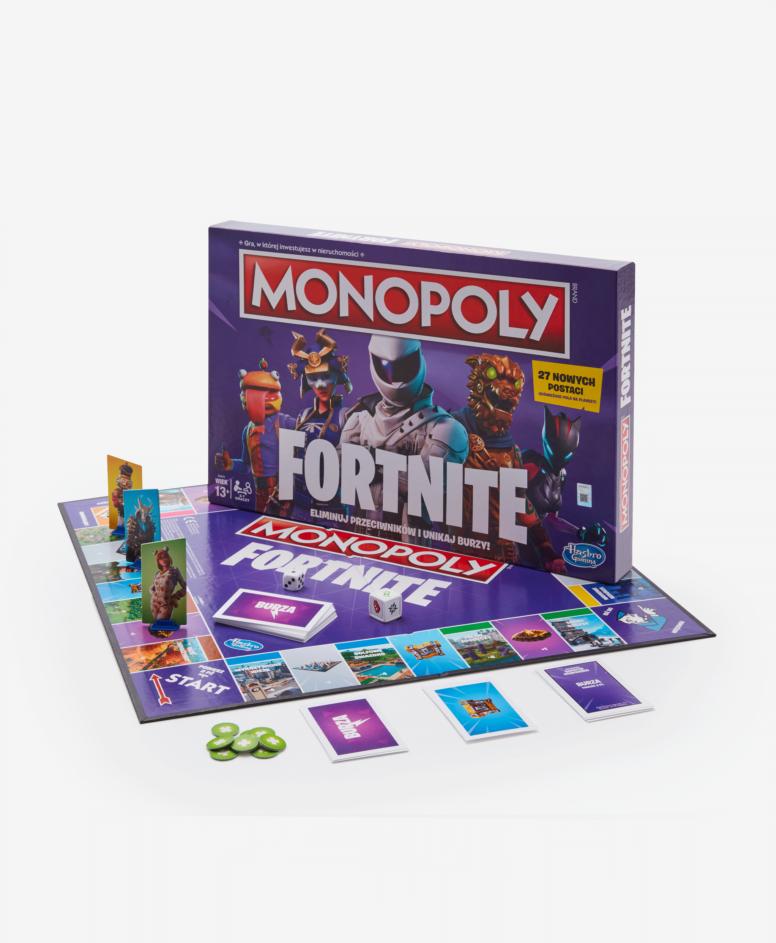 Gra planszowa Monopoly Fortnite młodzieżowa, kolor fioletowy