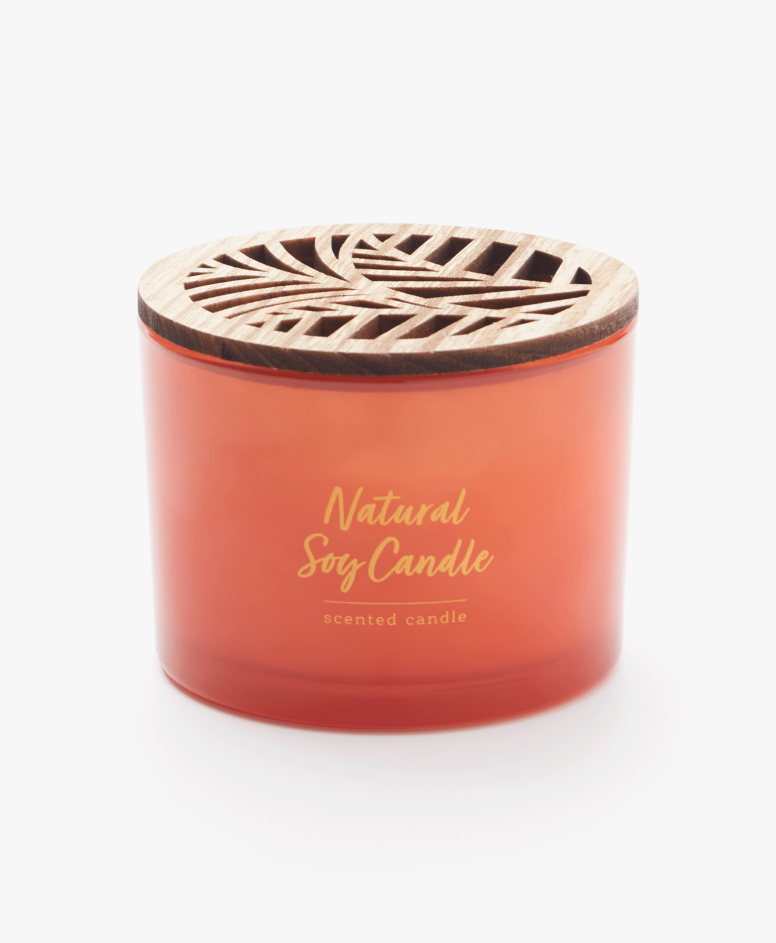 Sojowa świeca zapachowa w szkle, różne kolory, wymiary: ø 11 cm, wys. 8,5 cm