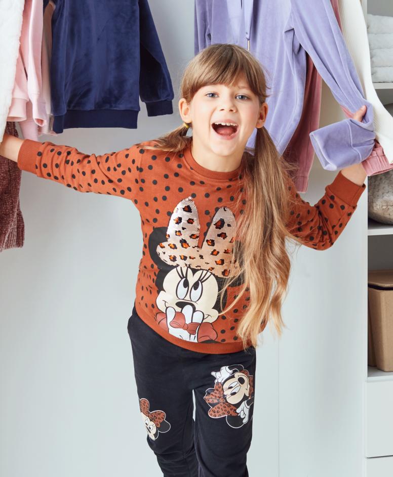 Bluza dziewczęca, kolor pomarańczowo-czarny, rozmiary: 104-134 cm