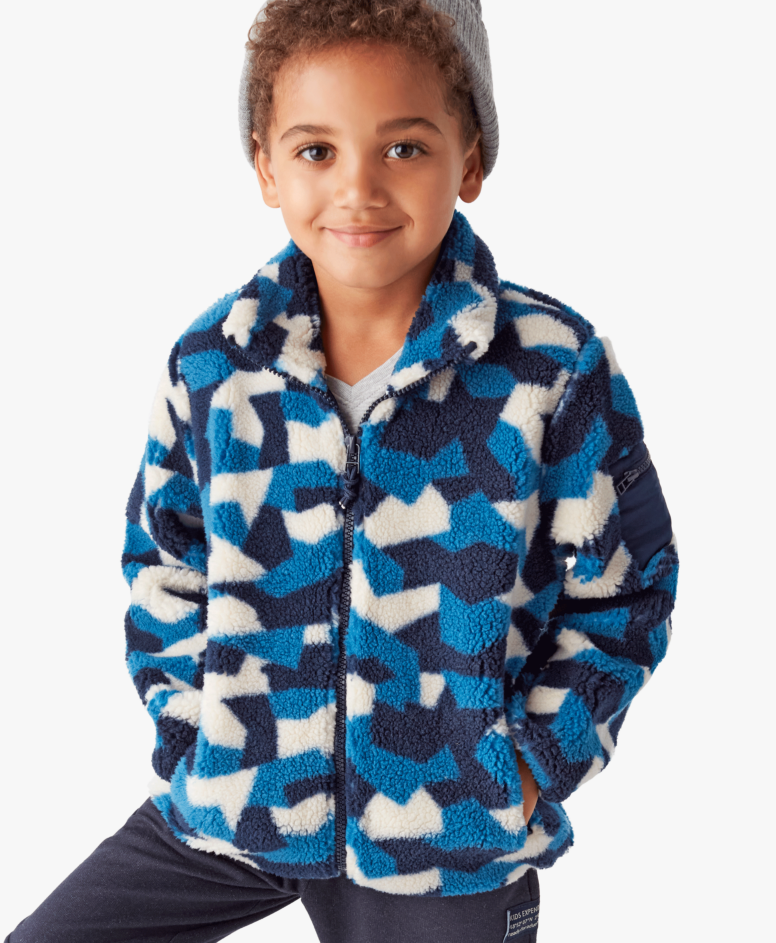 Polar duks za dečake, plavo-beli, veličine: 104-134 cm