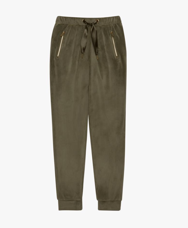 Spodnie dresowe damskie, kolor khaki, rozmiary: S-XXL