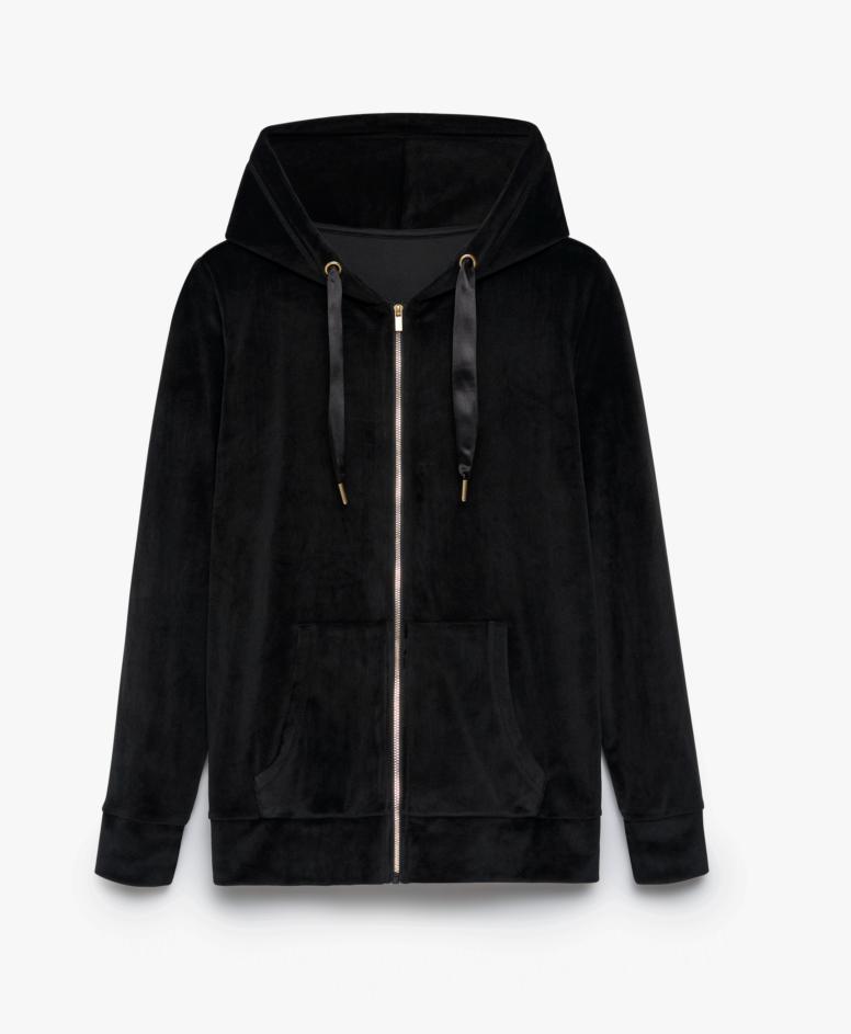 Bluza damska na suwak, kolor czarny, rozmiary: S-XXL