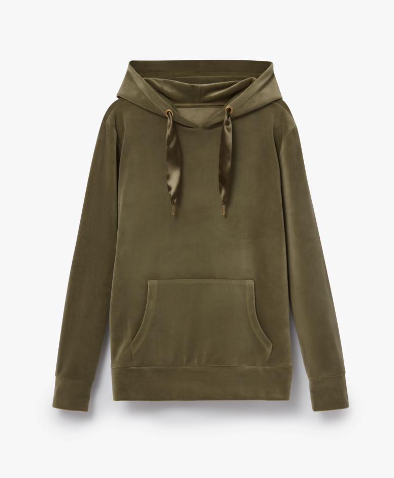 Bluza z kapturem damska kangurka, kolor khaki, rozmiary: S-XXL